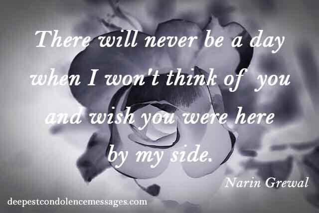 Sympathy Quotes for Loss of a Husband